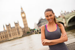 Fitness woman in london Stock Image