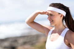 Fitness woman looking Royalty Free Stock Images