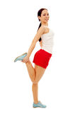 Fitness woman make exercises Stock Image