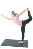 Fitness woman make stretch on yoga Royalty Free Stock Images