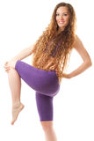 Fitness woman make stretch on yoga pose Royalty Free Stock Image