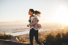 Fitness woman on morning run Stock Image