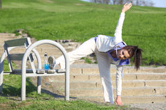 Fitness woman in park Stock Photography
