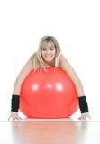 Fitness woman on pilates ball Stock Photo