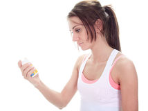 A Fitness woman pill Royalty Free Stock Images
