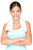 Fitness woman portrait royalty free stock photos