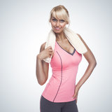 Fitness woman portrait Royalty Free Stock Image