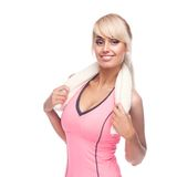Fitness woman portrait Royalty Free Stock Photography