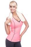 Fitness woman portrait Stock Images
