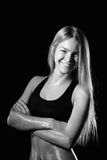 Fitness woman portrait isolated on white background. Smiling hap. Photography of Fitness woman portrait isolated on white background. Smiling happy female Royalty Free Stock Photography