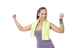 Fitness woman portrait Royalty Free Stock Photo