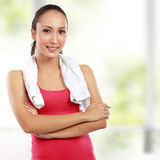 Fitness woman portrait looking at camera Royalty Free Stock Image