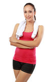 Fitness woman portrait looking at camera Stock Photography
