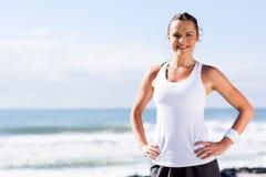 Fitness woman posing stock photo
