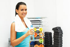 Fitness woman posing Stock Image