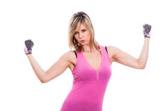 Fitness woman posing Royalty Free Stock Image