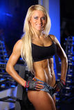 Fitness woman posing in gym Royalty Free Stock Images