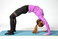 yoga backbend stock photo image of bending indoors