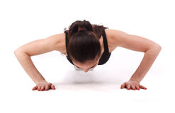 Fitness Woman Push Ups Royalty Free Stock Images