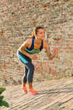 Fitness woman ready for running outdoor Royalty Free Stock Photo