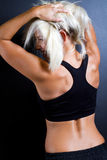 Fitness woman rear view Royalty Free Stock Photo