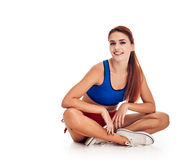 Fitness - woman relax Stock Images