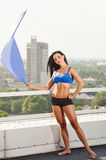 Fitness woman relaxing Royalty Free Stock Photography