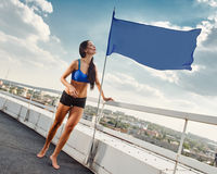 Fitness woman relaxing Stock Photography