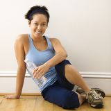 Fitness woman resting Stock Photos