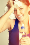 Fitness Woman Resting Stock Image