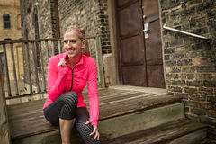 Fitness woman resting Royalty Free Stock Image