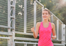 Fitness woman running Stock Photography
