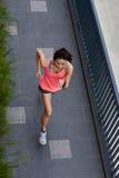 Fitness woman running stock photos