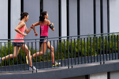 Fitness woman running royalty free stock images