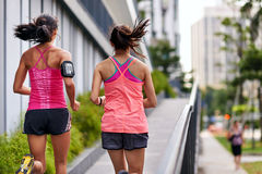 Fitness woman running royalty free stock photos