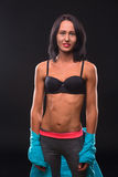 Fitness Woman Showing Her Perfect Abs Royalty Free Stock Photo