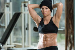Fitness Woman With Six Pack Stock Photos
