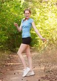 Fitness woman with skipping rope Royalty Free Stock Image