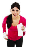 Young fitness woman with bottle of water Stock Photos