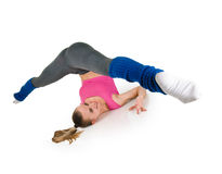 Fitness woman splits Stock Image
