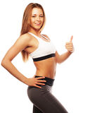 Fitness woman in sport style Stock Image