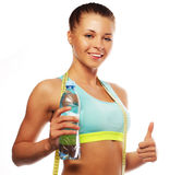 Fitness woman in sport style Stock Images