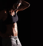 Fitness woman in sports clothing Stock Photos