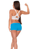 Fitness woman standing against isolated white background Stock Images