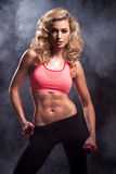 Fitness woman standing Stock Image