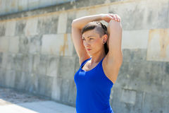 Fitness woman stretch befor exercises. Stock Image