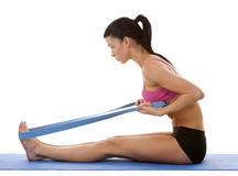 Fitness woman stretching Stock Image