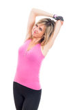 Fitness woman stretching Royalty Free Stock Photos