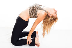 Fitness woman stretching body Stock Photo