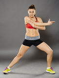 Fitness woman stretching Stock Photography